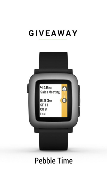 Pebble Time Smartwatch Giveaway